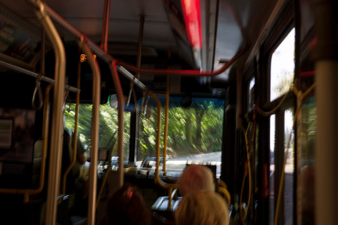 bus wide screen
